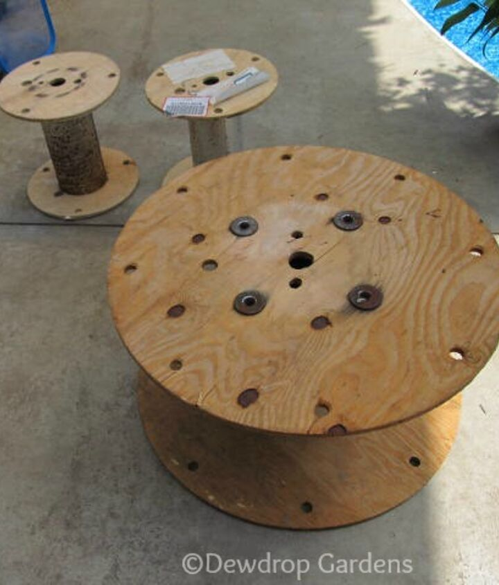 Find a couple empty cable spools