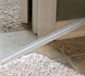 Shower door plastic strips