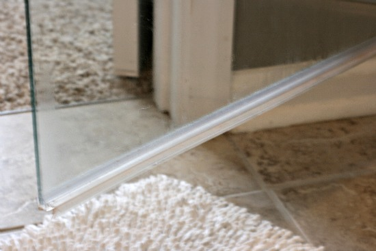 How To Clean The Plastic Strip At The Bottom Of A Glass Shower Door