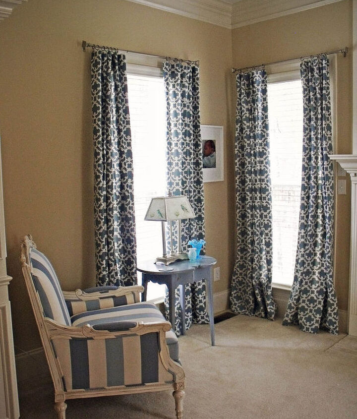 Just love these curtains and these chairs.
