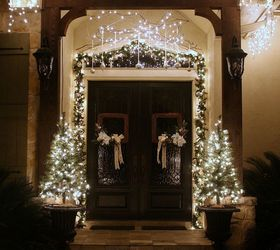 christmas porch and front door garland diy christmas decorations curb appeal doors : door garland - pezcame.com
