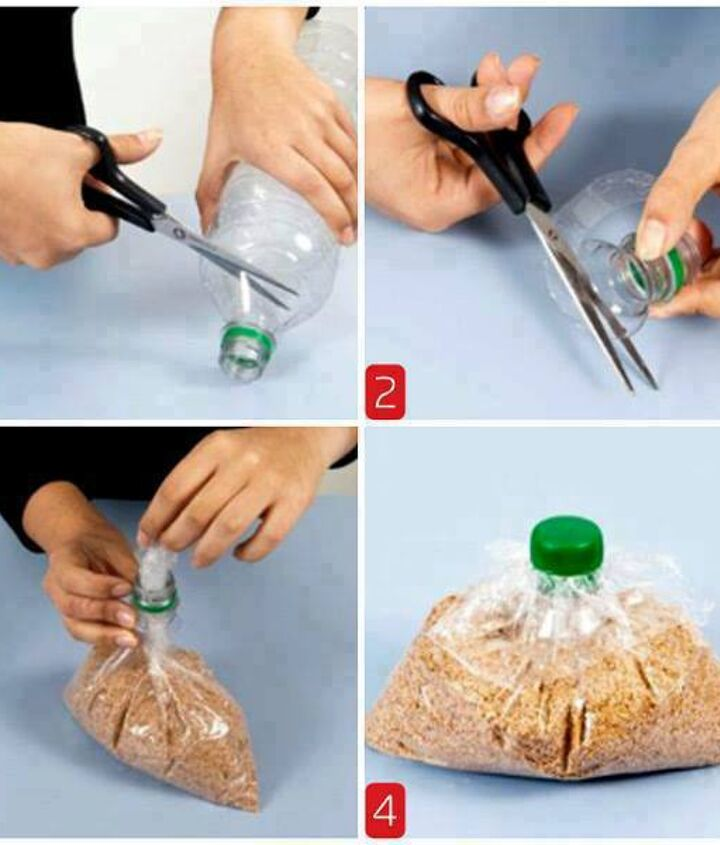 how to close the bag using a plastic bottle cap, crafts