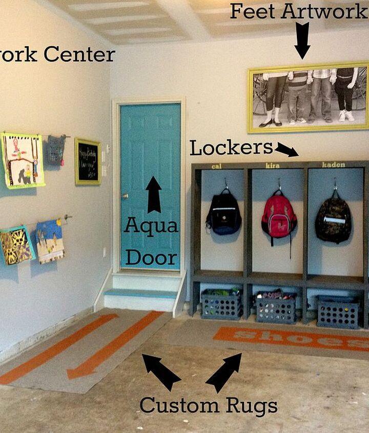 garage mudroom makeover, garages, laundry rooms