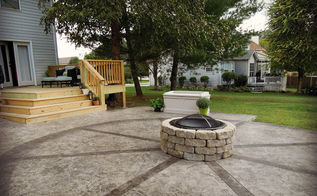 how to build a firepit, outdoor living, patio, Easy to move if needed simple and inexpensive