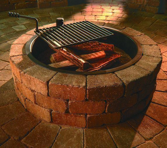 fire pit fire ring outdoor living patios pavers, concrete masonry, patio