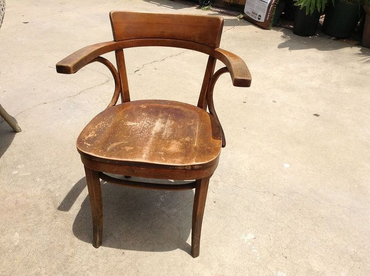 Old Thonet school chair from Camp Pendleton, CA