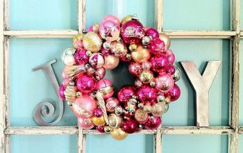 how to make a christmas ornament wreath, crafts, seasonal holiday decor, wreaths, Vintage Ornament Wreath for a little girl