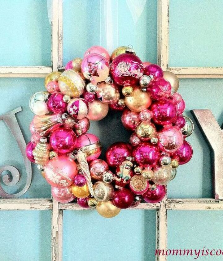 Vintage Ornament Wreath for a little girl.