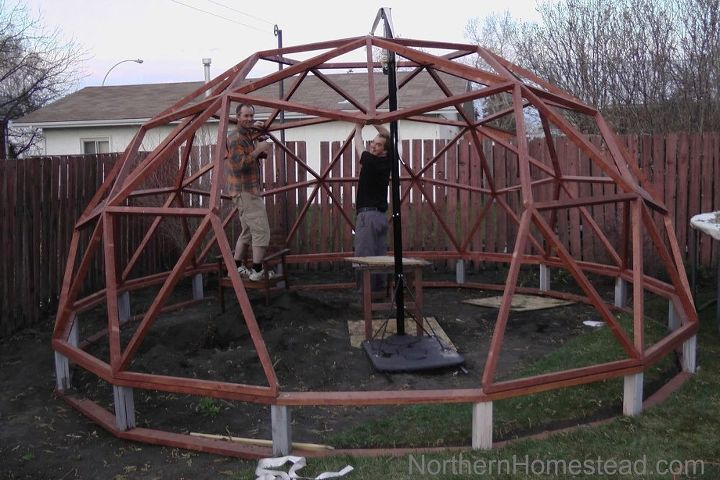 Assembling the the geodesic dome