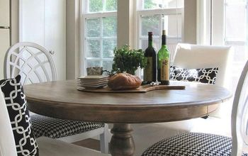 diy arhaus inspired weathered table, painted furniture, rustic furniture, AFTER Rustic weathered finish gives new life to a classic style table
