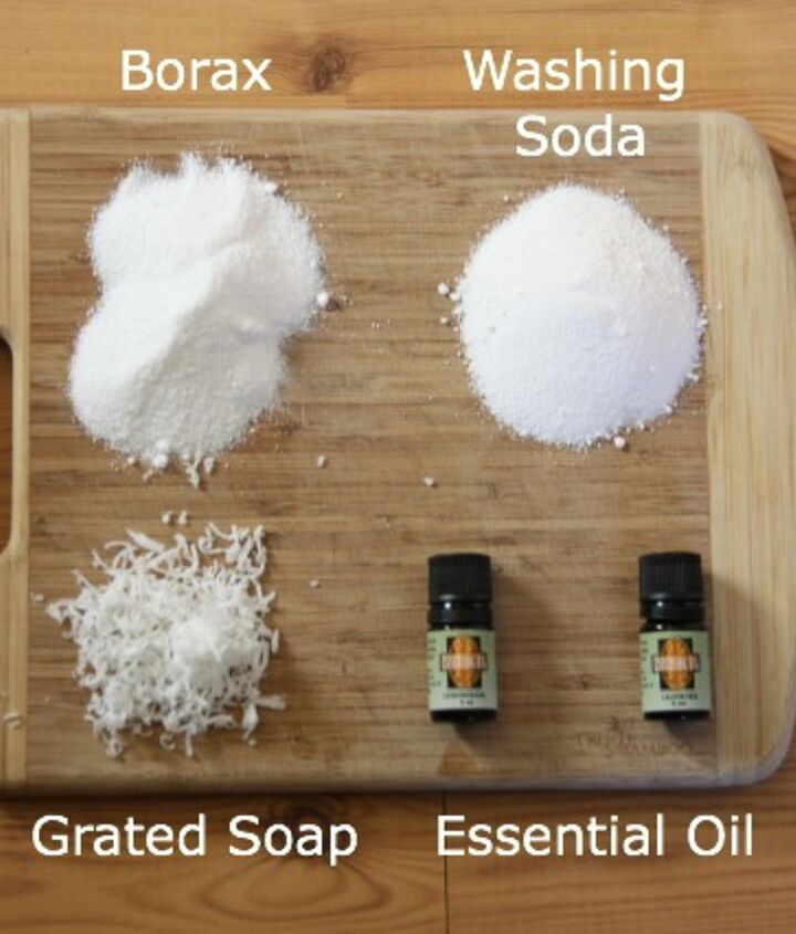 Ingredients for your homemade soap.  It truly is simple!