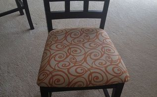 four new dining room chairs for less than 10 00 how to reupholster dining room, painted furniture, Dining Room Chair After