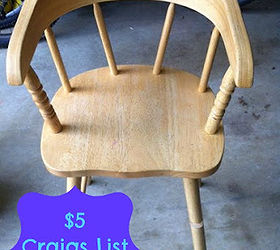 Toddler Chair Makeover, Painted Furniture, Unfinished Chair