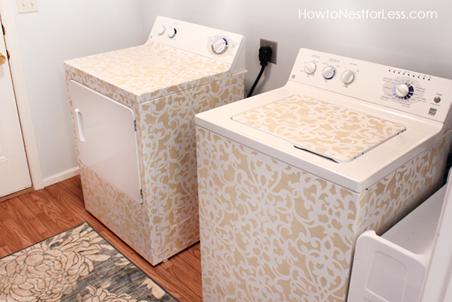 stenciled washer amp dryer, appliances, crafts, laundry rooms