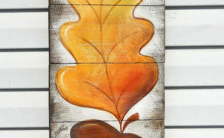 how to paint acorn autumn leaf art, crafts, painting, seasonal holiday decor