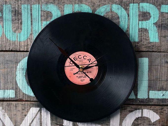 vinyl record clock, crafts, repurposing upcycling, Admire your handy work
