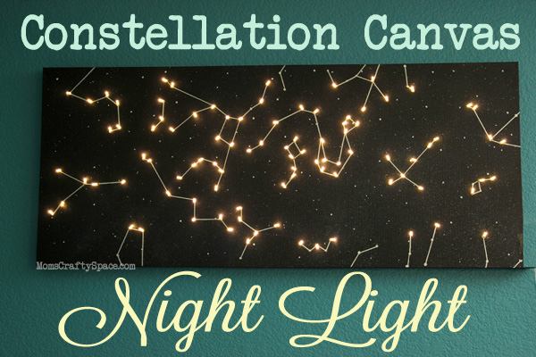diy canvas constellation night light, crafts, lighting