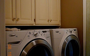 redone laundry poweder room, home decor, laundry rooms, the cabinets above are more storga and the one not seen is a laundry shoot my bedroom master bath