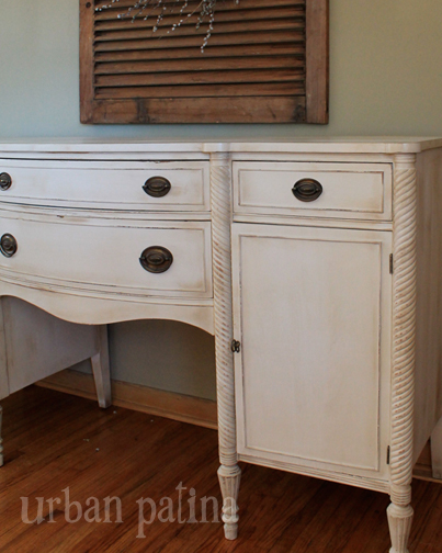 antique buffet old ochre coco, chalk paint, painted furniture - Antique  Buffet Makevoer { - Waxing Antique Furniture Antique Furniture
