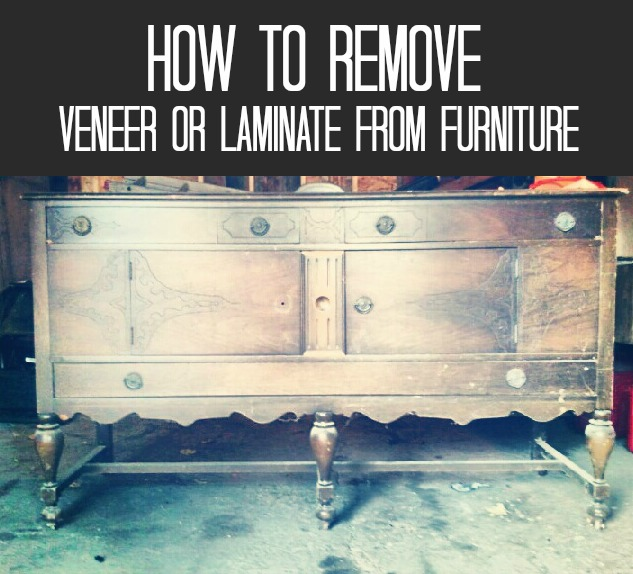 how to remove veneer or laminate from furniture, painted furniture, woodworking projects