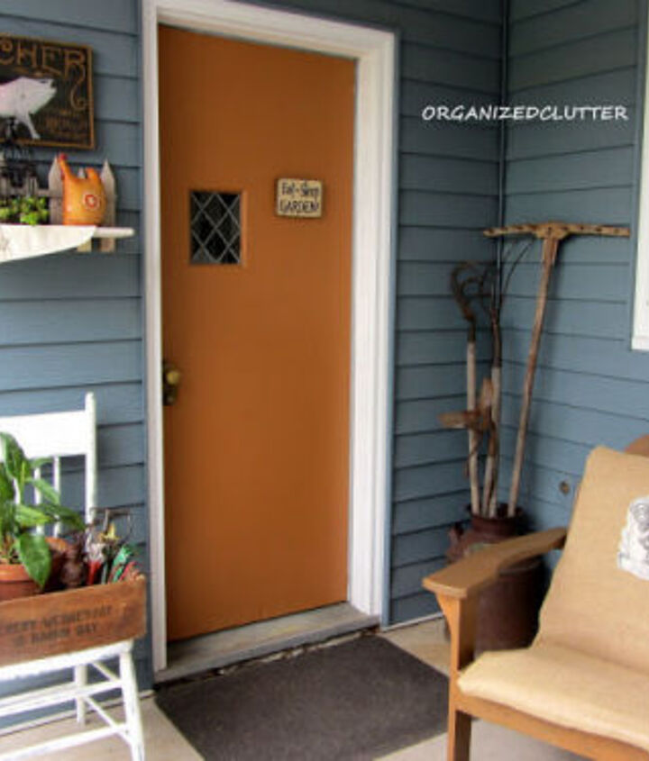 Vintage items make this entry - http://organizedclutterqueen.blogspot.com/2013/06/decorating-covered-patio-with-vintage.html