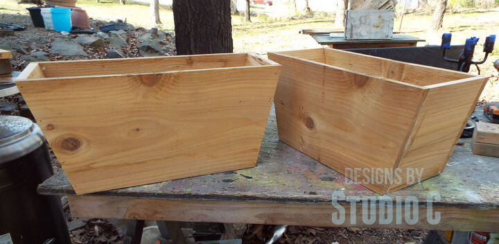 build french inspired flower boxes, diy, flowers, gardening, woodworking projects