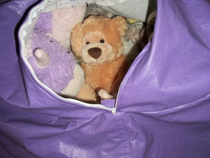 stuffed animal storage, bedroom ideas, cleaning tips, Fill the bean bag chair with stuffed animals