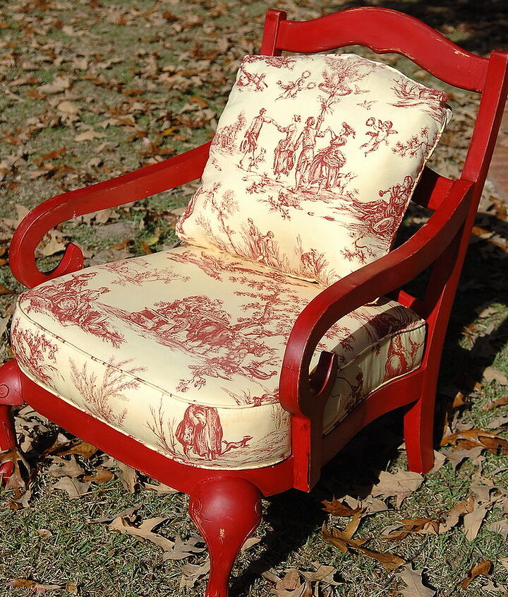 """Sometimes changing the paint can """"save"""" a tired or out dated upholstery."""