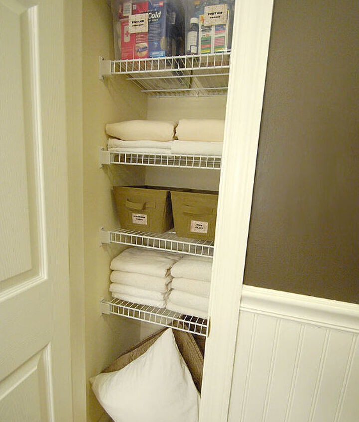 I love what a few handmade labels and inexpensive bins can do for a space.