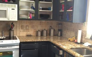 painting thermofoil kitchen cabinets, kitchen cabinets, kitchen design, painting, As you can see this had a huge impact on this kitchen Stay tuned for more info on painting thermofoil cabinets and the upcoming reveal