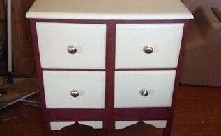 this was once two nightstands now they are one, painted furniture
