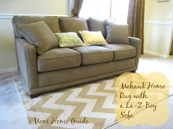New Living Room With La Z Boy Sofa And Mohawk Rug Home Decor