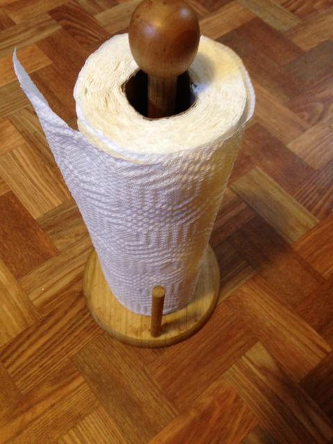paper towel holder makeover, crafts, decoupage
