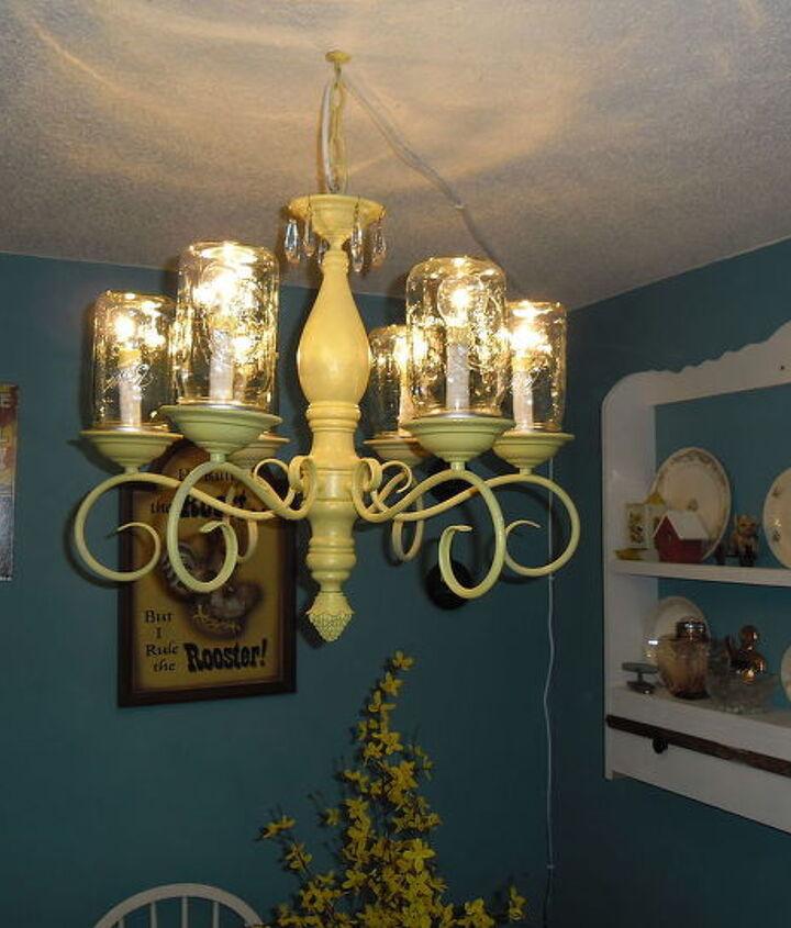 mason jar chandelier, electrical, lighting
