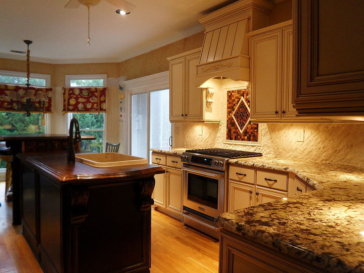 recently completed tuscan kitchen design, kitchen backsplash, kitchen design