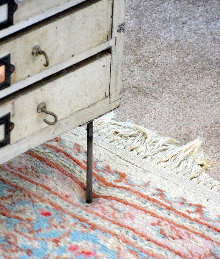 diy industrial end table, home decor, painted furniture