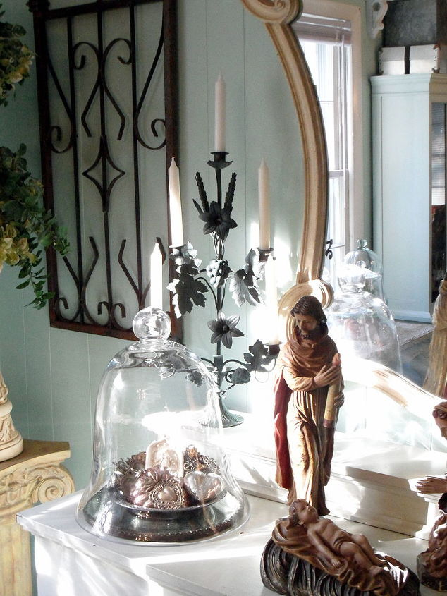 trend alert religious items used as home decor is huge right now, home decor