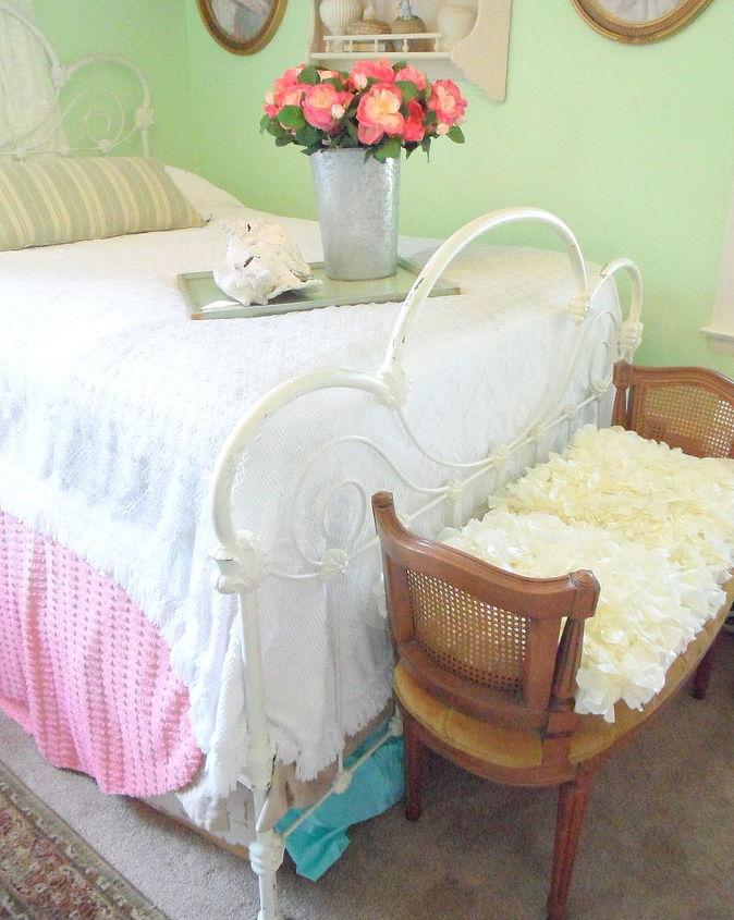 shabby chic spare bedroom, bedroom ideas, home decor, shabby chic