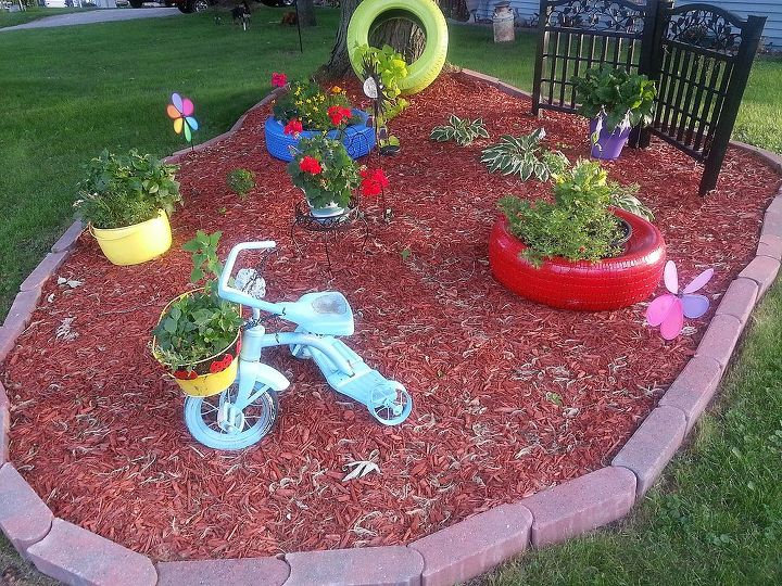 q updated photos of our previous work this spring, doors, fences, flowers, gardening, outdoor living, area where we had tree roots
