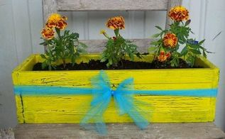 shabby flower box from discarded trim, crafts, flowers, gardening, repurposing upcycling, Shabby flower box made from discarded wall trim