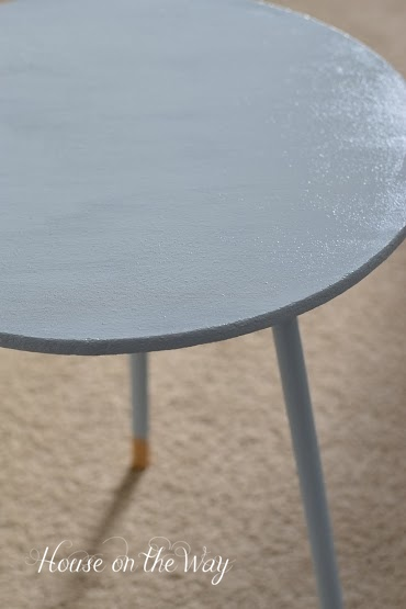 chalky finish table with dip painted legs, painted furniture
