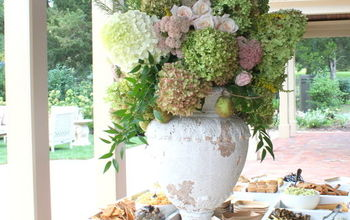 early fall outdoor party ideas, hydrangea, outdoor living, seasonal holiday decor, Appetizer table