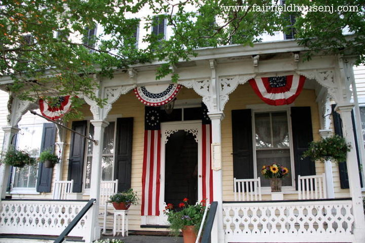 A Favorite Outdoor Space Patriotic Victorian Farmhouse Front Porch Curb Appeal Living