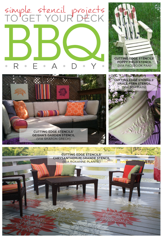 four simple stencil projects to get your deck bbq ready, decks, outdoor living, painting