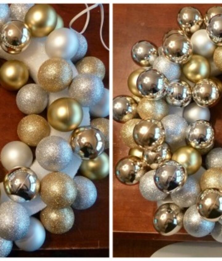 5 steps to get the perfect ornament wreath, crafts, seasonal holiday decor, wreaths