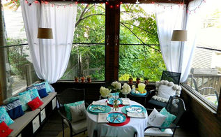 screen porch before amp after, outdoor living, porches, seasonal holiday decor, Screen Porch After