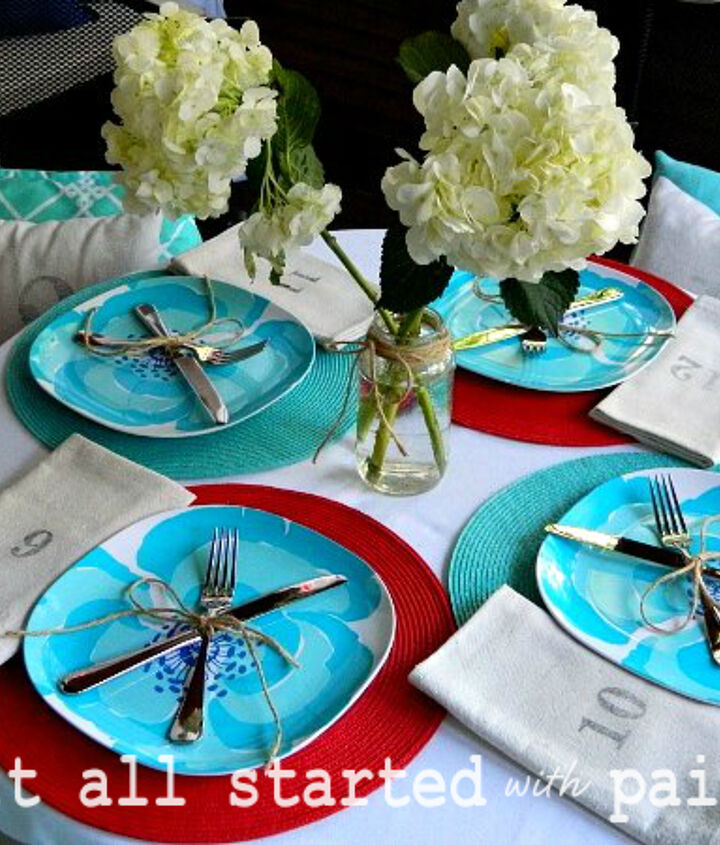 Screen Porch Table Setting
