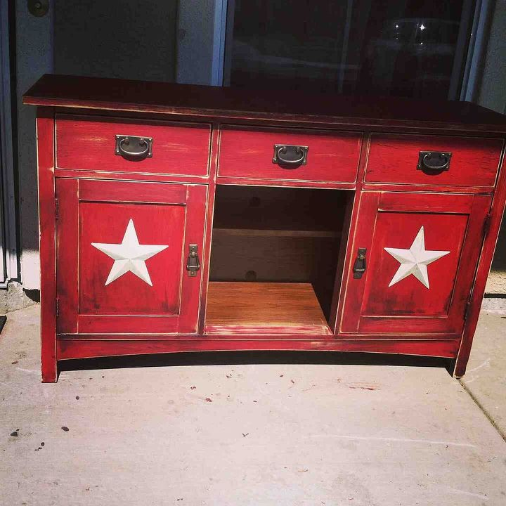old china hutch now new ent center, painted furniture, Broken China hutch now my entretainment center