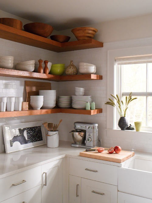 My Dream Home: 10 Open Shelving Ideas For The Kitchen | Hometalk