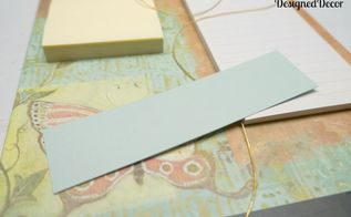 repurposed clipboard, chalkboard paint, crafts, decoupage, used cardstock to hold the chalk